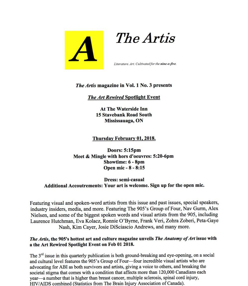 Art Rewired spotlight event — <i> The Artis </i>