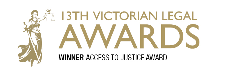 Congratulations to Leah Perkins, who accepted the award on behalf of the Legacy Caseload Working Group, which took out the award for 'Access to Justice' which CFIL was heavily involved in.