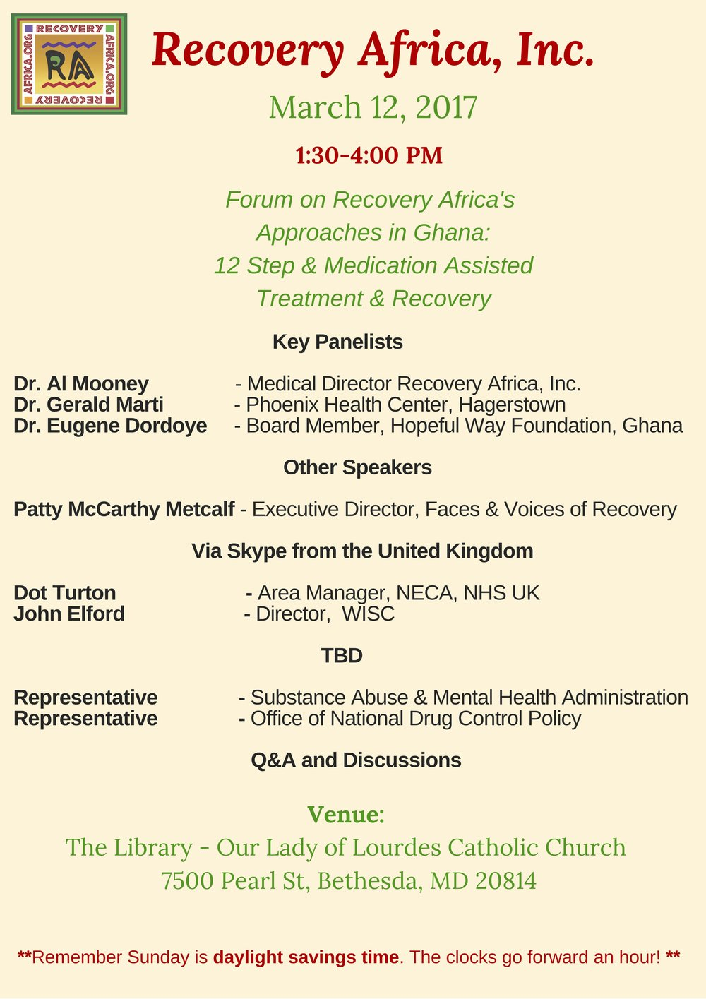Forum on Recovery Africa, Inc 's Approaches in Ghana: 12