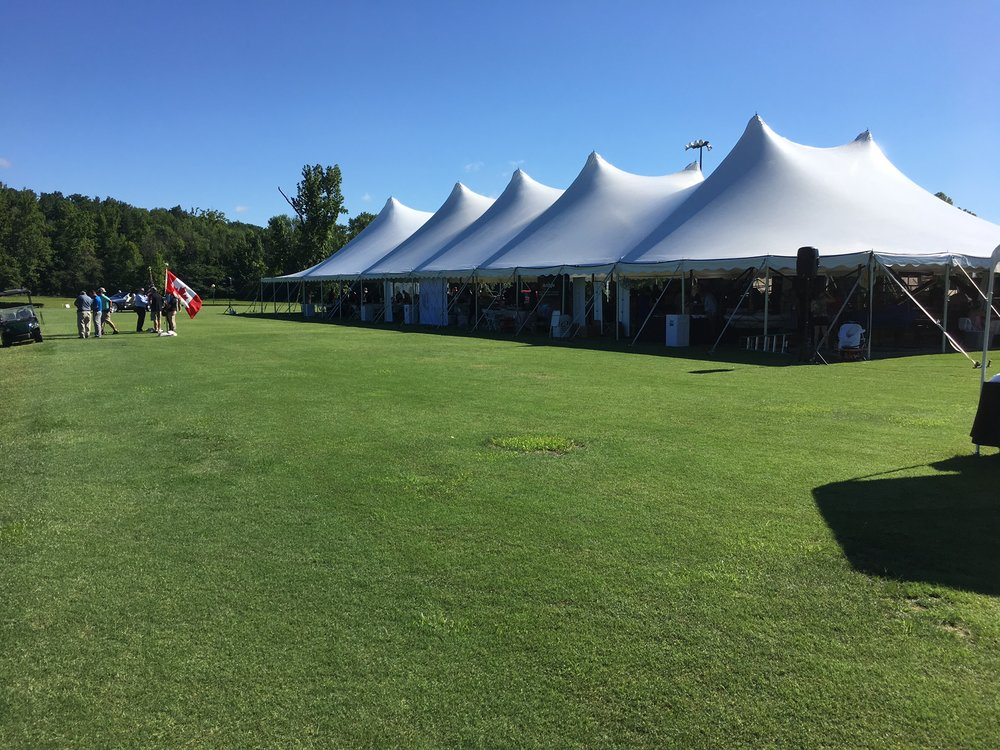The event tent at the RROC National Meet