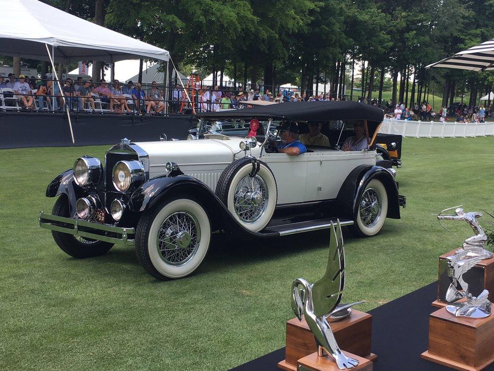 Show winning 1928 Cunningham Phaeton