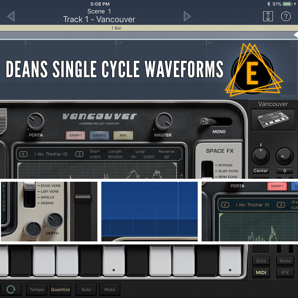 100 Single Cycle Waveforms - COMPATIBLE WITH:Korg Gadget (Vancouver Sampler)Beatmaker 3, Ableton LiveSerum VST, Avenger VSTPretty much EVERY sampler 👊Download Deans Single Cycle WaveformsIf you didn't see the explanation video: https://youtu.be/1Z-KfVsnIEM