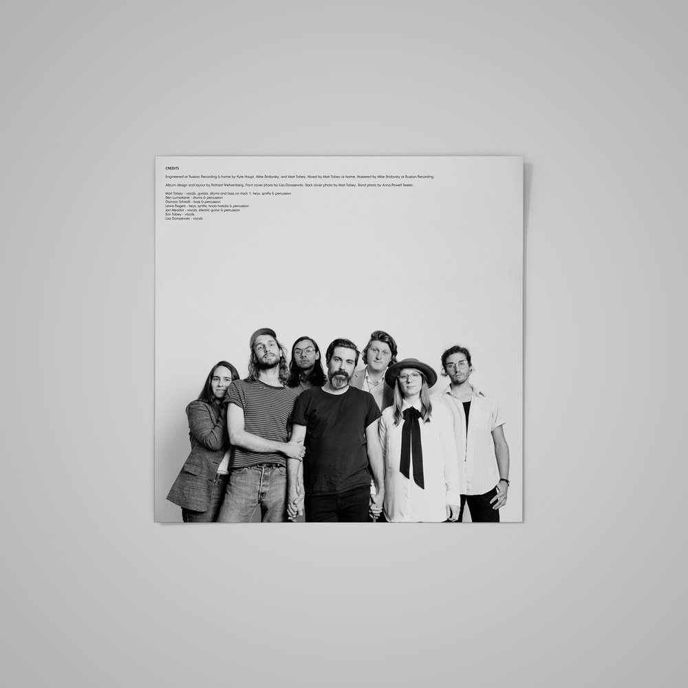 LP record insert/credits (1) for  Matt Tobey . Photography by Anna Powell Teeter.  2018 .
