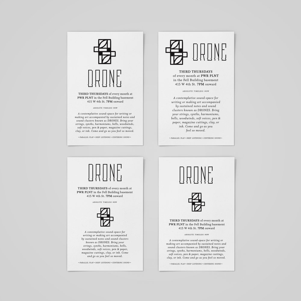 Business cards/posters for  DRONE .  2019 .