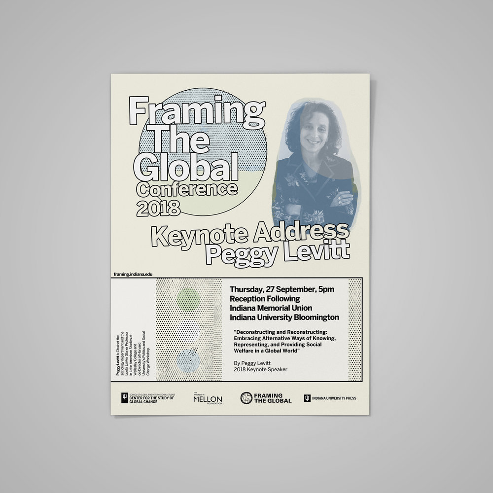 Poster for  Framing The Global Conference 2018  (2) at Indiana University.  2018 .