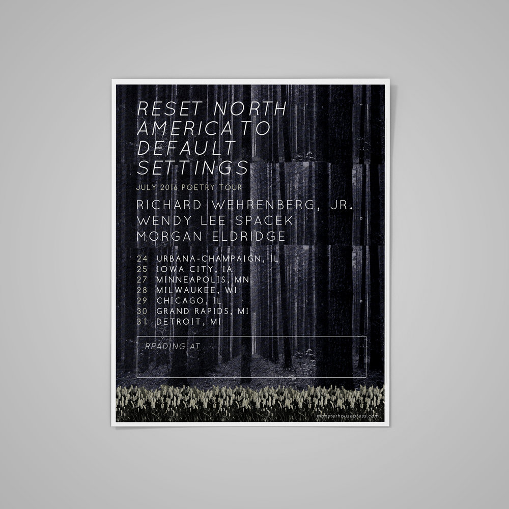 Poster for   Reset North America To Default Settings  Tour .  2016 .