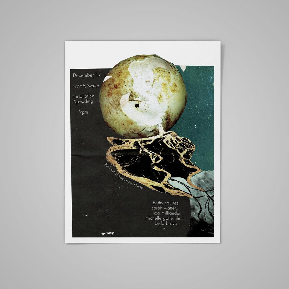 Poster for  House Reading/Art Installation .  2014 .