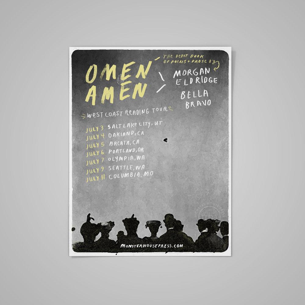 Poster for   Omen Amen  Tour .  2017 .