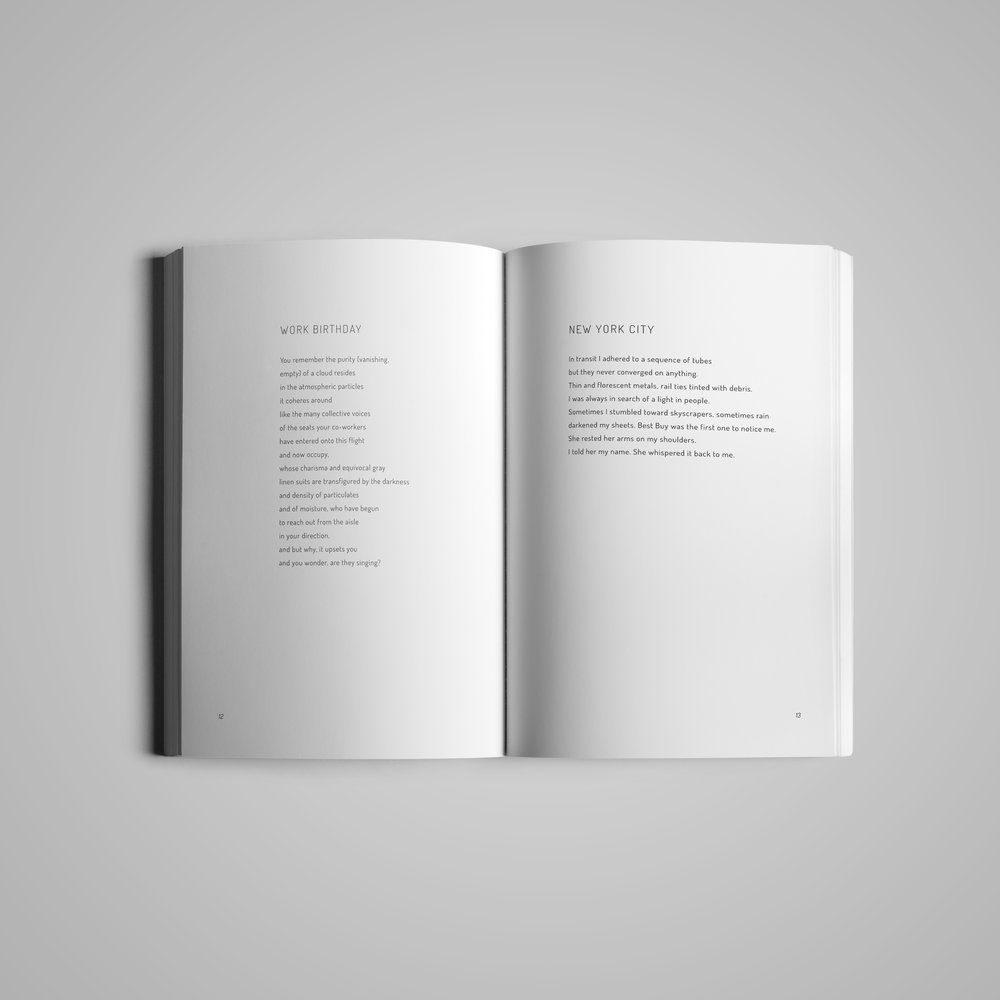 Book interior (2) for  Monster House Press .  Dyson Poems  by Jonathan Aprea.  2018.
