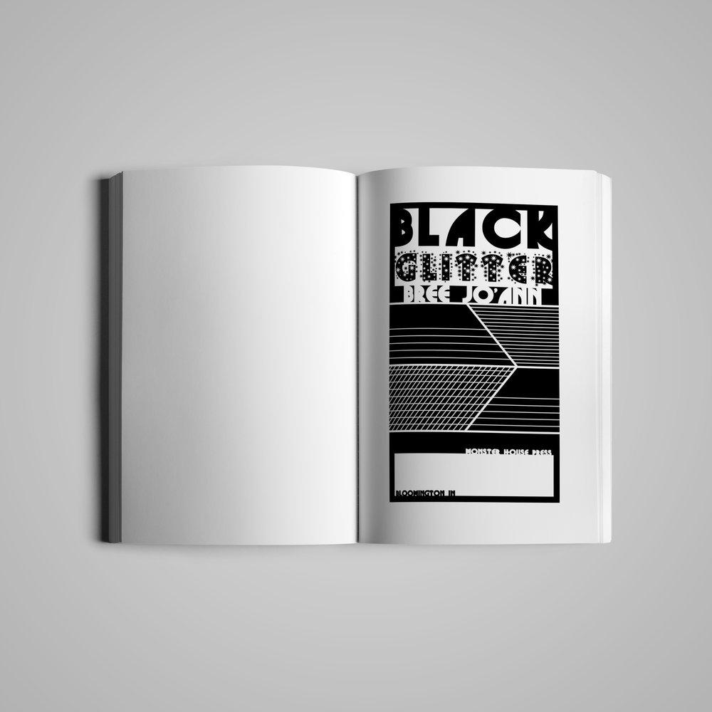 Book interior (1) for  Monster House Press .  Black Glitter  by Bree Jo'ann.  2018.