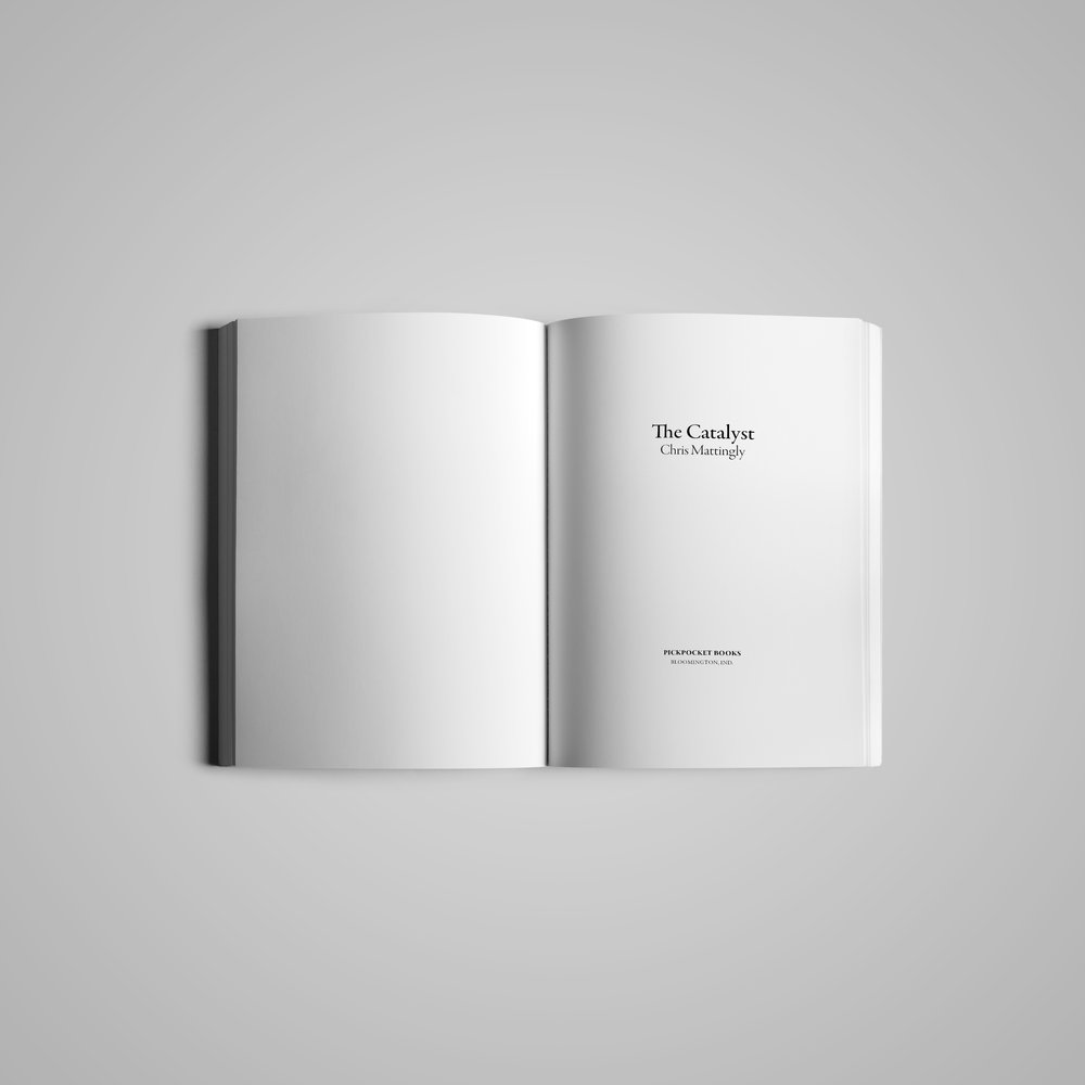 Book interior (1) for  Pickpocket Books .  The Catalyst  by Chris Mattingly.  2018.