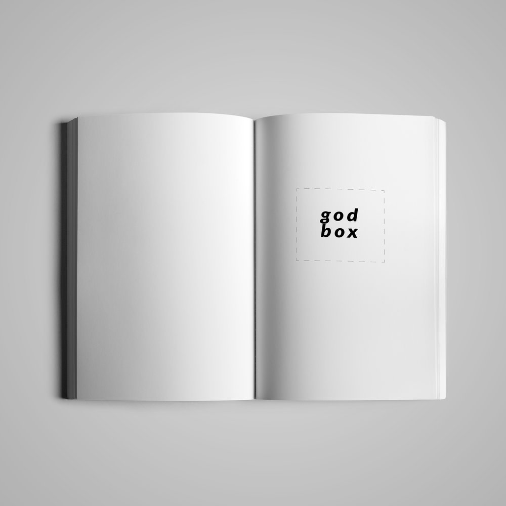 Book interior (1) for  Monster House Press .  God Box  by Mallory Whitten.  2017.