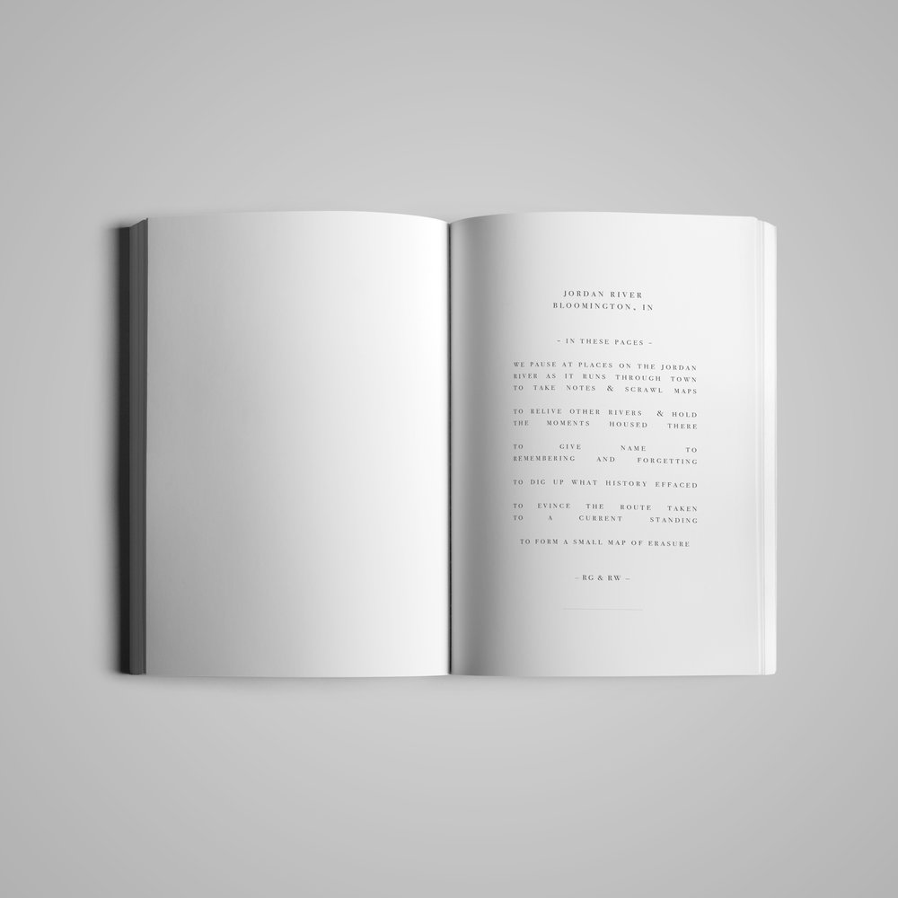 Book interior (2) for  Monster House Press .  River  by Ross Gay & Richard Wehrenberg.  2014.