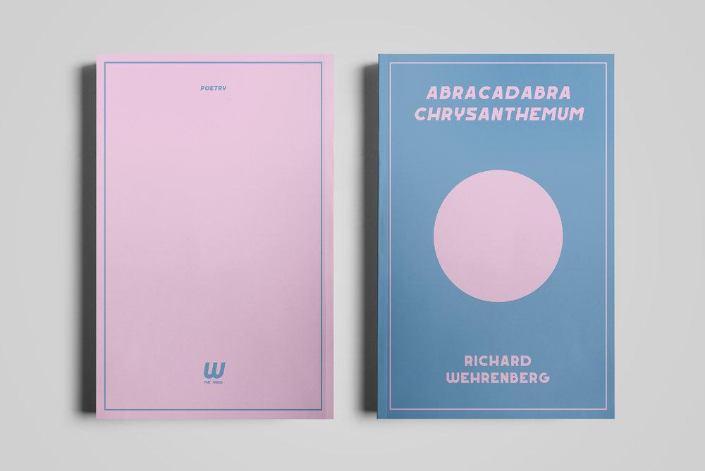 Cover for  w the trees .  Abracadabrachrysanthemum  by Richard Wehrenberg.  2018.