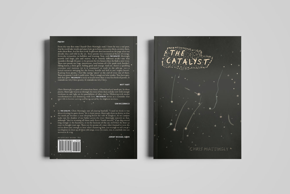 Cover for  Pickpocket Books .  The Catalyst  by Chris Mattingly.  2018.