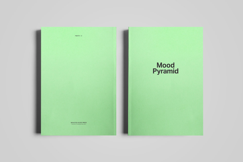 Cover for  Monster House Press .  Mood Pyramid  by Glenn Cox.  2018.