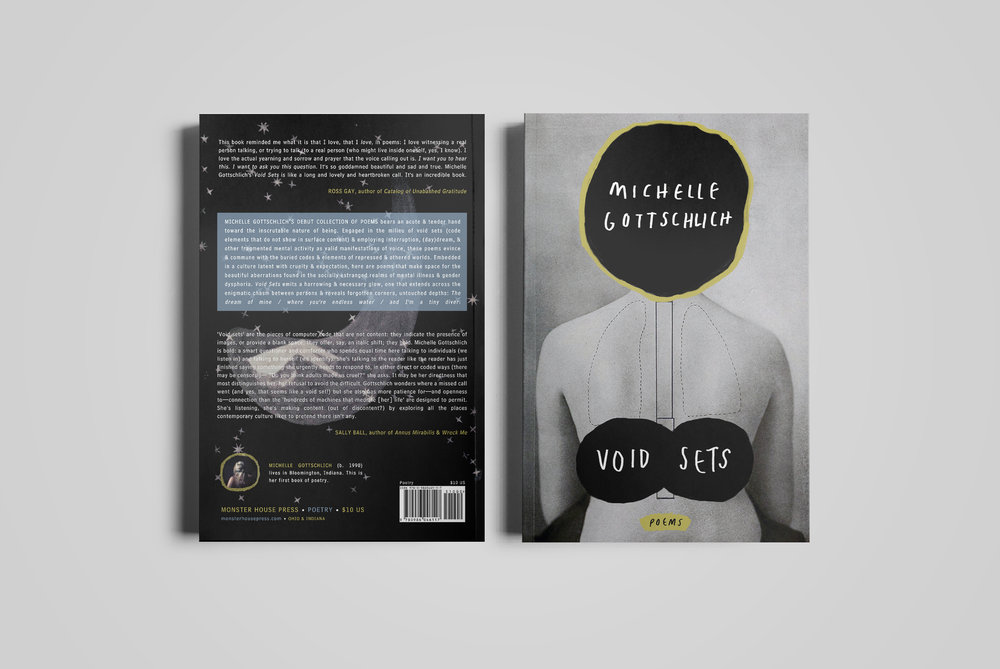 Cover for  Monster House Press .  Void Sets  by Michelle Gottschlich.  2015.