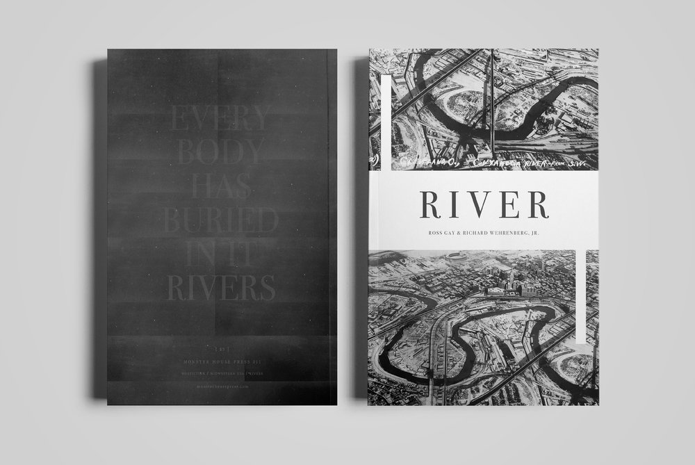 Cover for  Monster House Press .  River  by Ross Gay & Richard Wehrenberg.  2014.