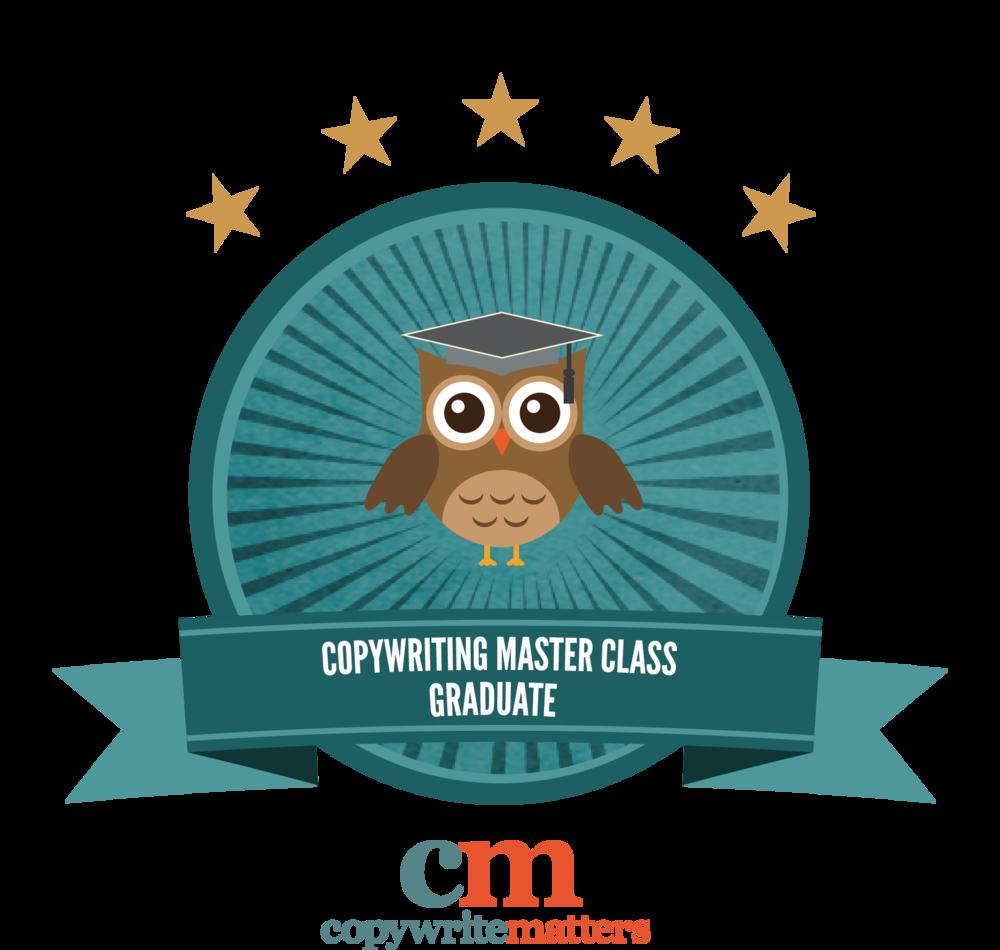 qualified website copywriter and masterclass graduate