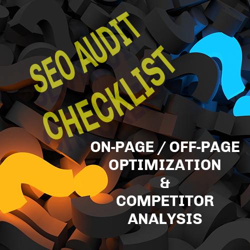 SEO Site Audit Checklist 2017
