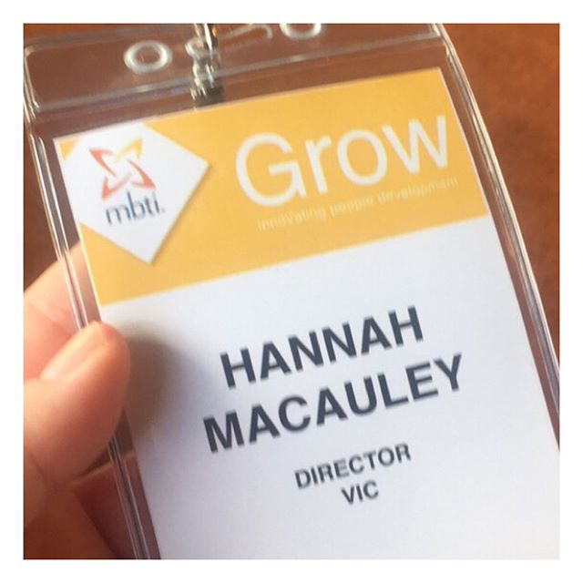 Myers Briggs Type Indicator 'Grow' Conference all done and dusted!! And it was flippin' INcredible!! A swag of Australian and International businesses sharing their use of MBTI! From @holdenaustralia to @bernardsalt and @auspost! A stack of learnings to be shared over the coming weeks! #growwithmbti