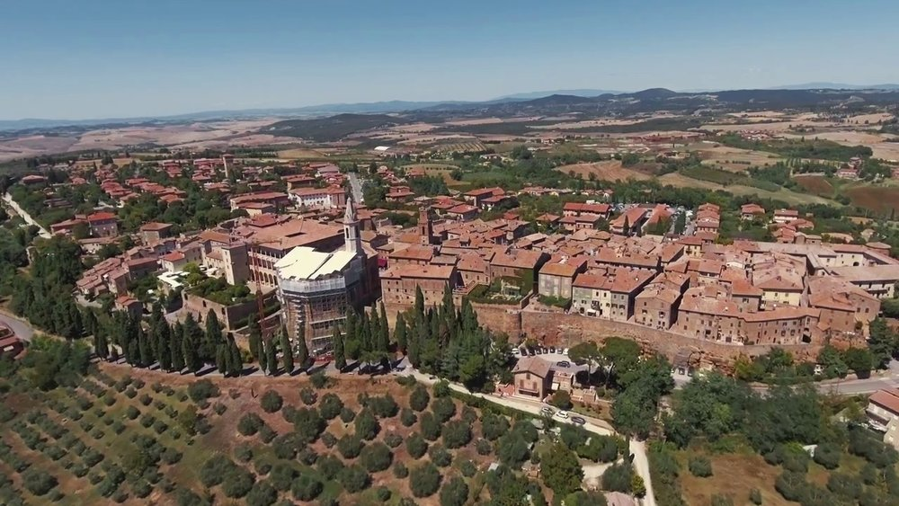 The High Density 'Compact City' is modelled on a tiny 15C Tuscan town -