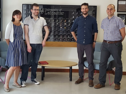 Left to Right: Dr Barbara Villa Marcos, Dr Dylan Williams, Dr Iain Thistlethwaite (Learning Science) and Dr Richard Blackburn.
