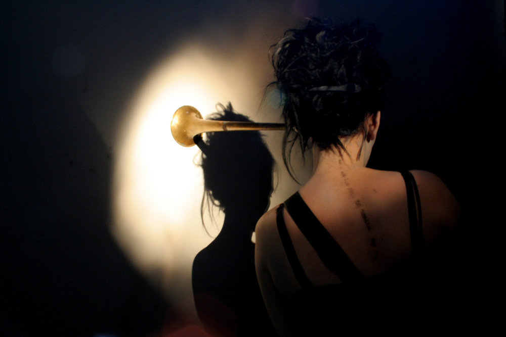 (image five) 2011 / Hearing Trumpet / photo documentation of performance and interactive installation