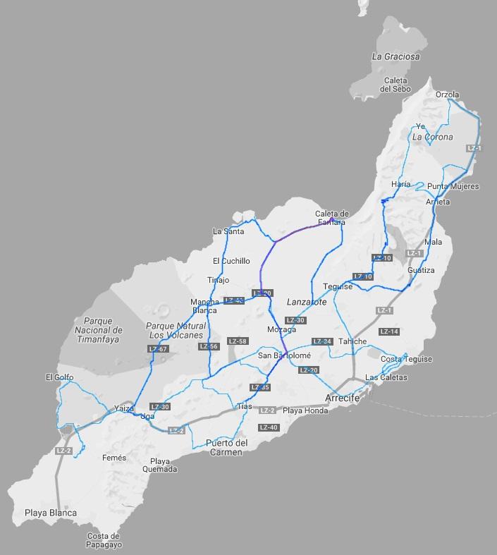 Meine Strava Heatmap - Lanzarote