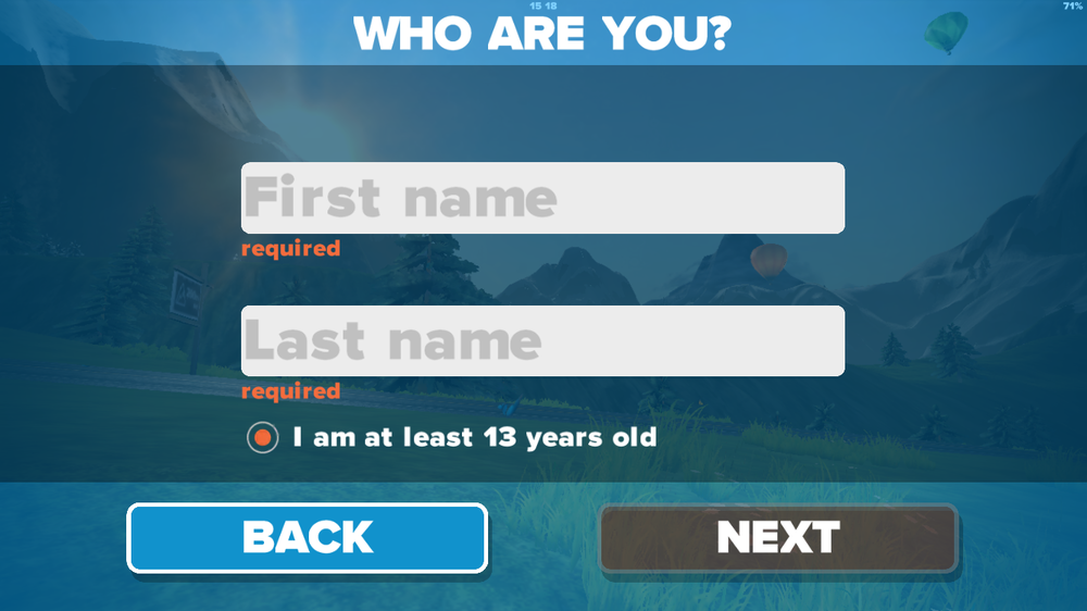 Als neuer User registrieren...
