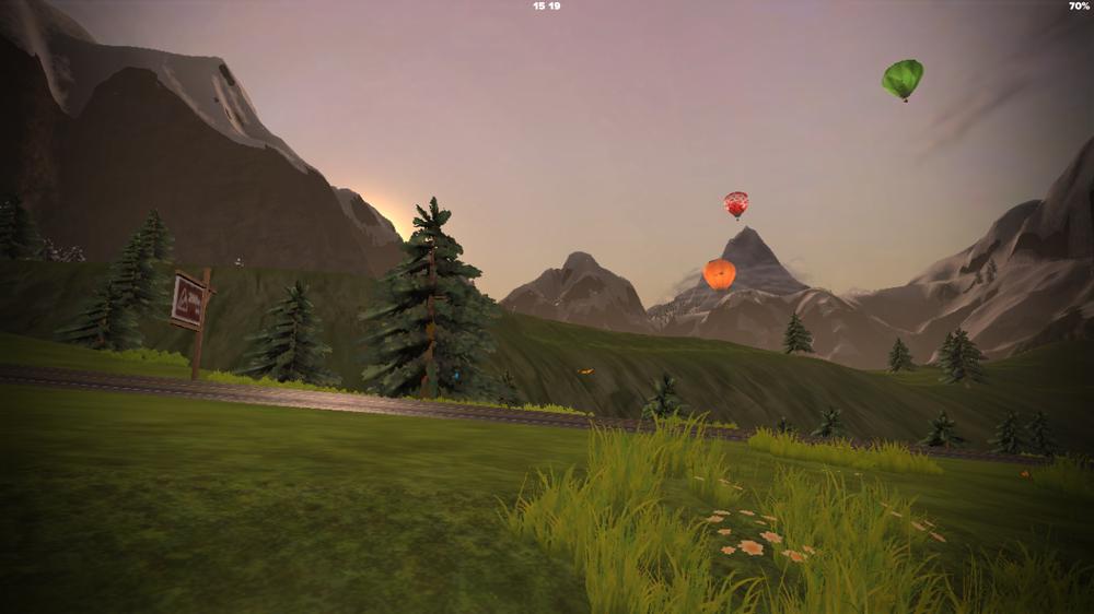 Im Hintergrund gleich ein kleiner Vorgeschmack auf die virtuelle Zwift-Welt