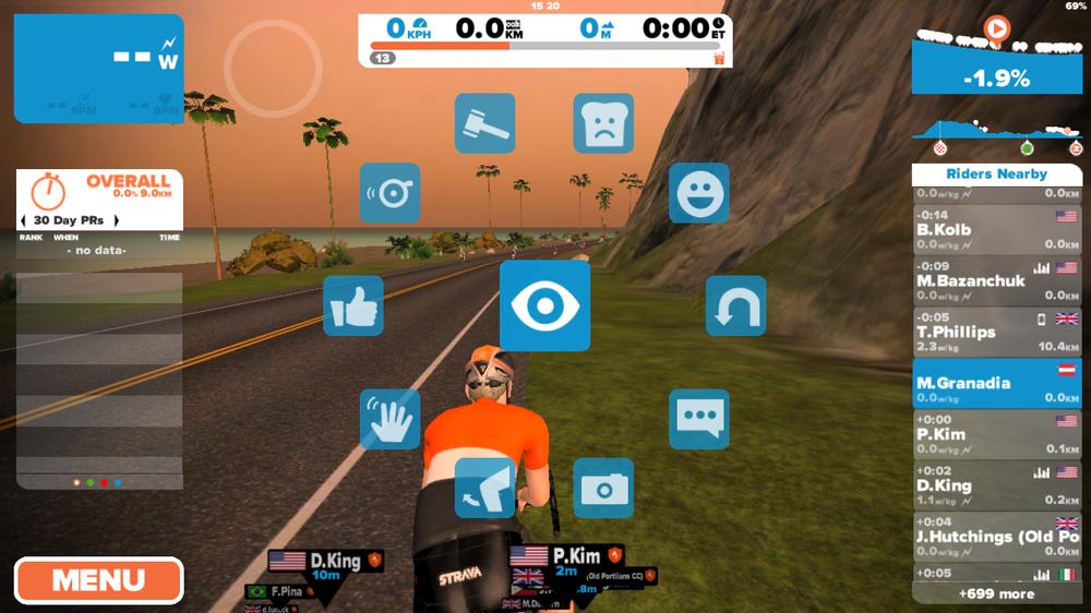 Interaktionen mit seiner virtuellen Umwelt sind durch Antippen des Bildschirms möglich. Von der Fahrradklingel über den Screenshot bis hin zu persönlichen Nachrichten ist hier alles möglich.