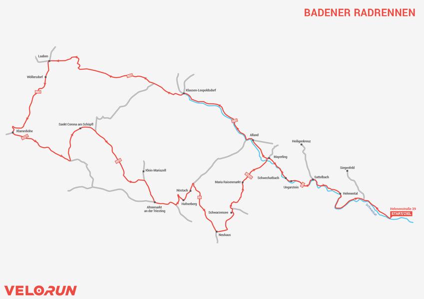 Strecke Velo/Run Radrennen