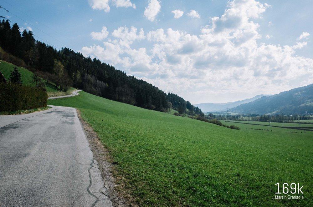 Das Ennstal Richtung Haus im Ennstal - rechts der Talboden, links würde es über Birnberg Richtung Ramsau gehen