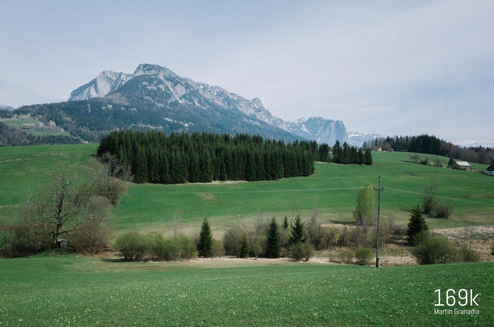 Blick Richtung Norden - rechts der Grundlsee, links der Altausseer See mit Loser