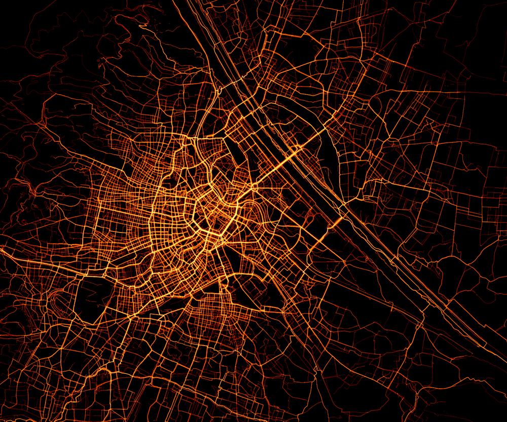 Heatmap Wien (bikecitizens.net)