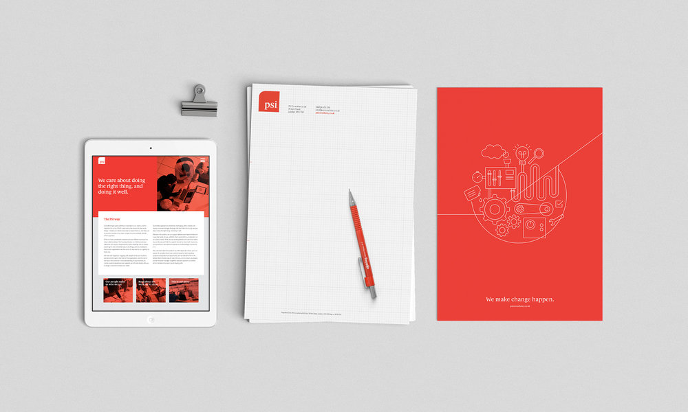 Responsive website / company stationery