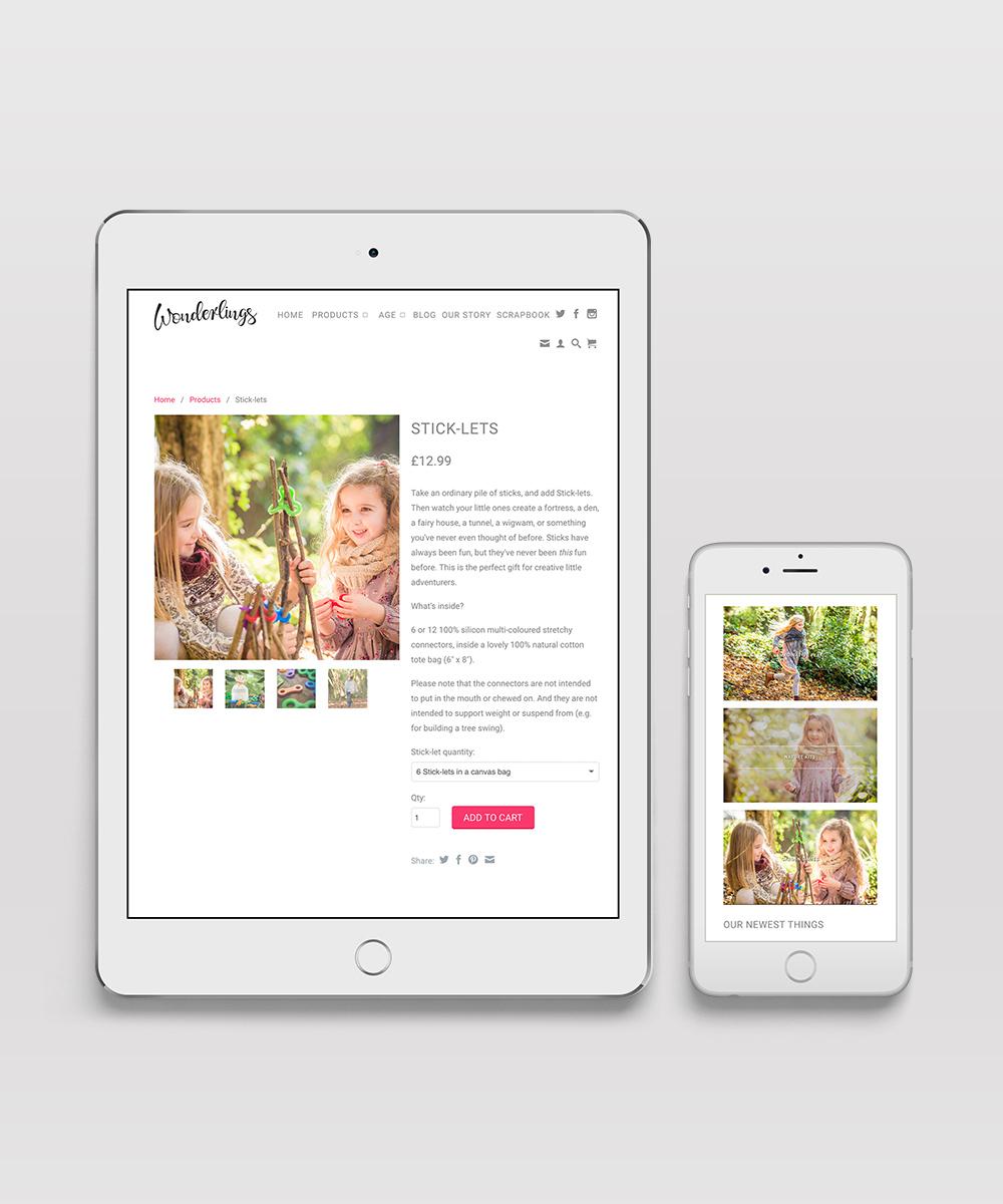 Responsive retail website