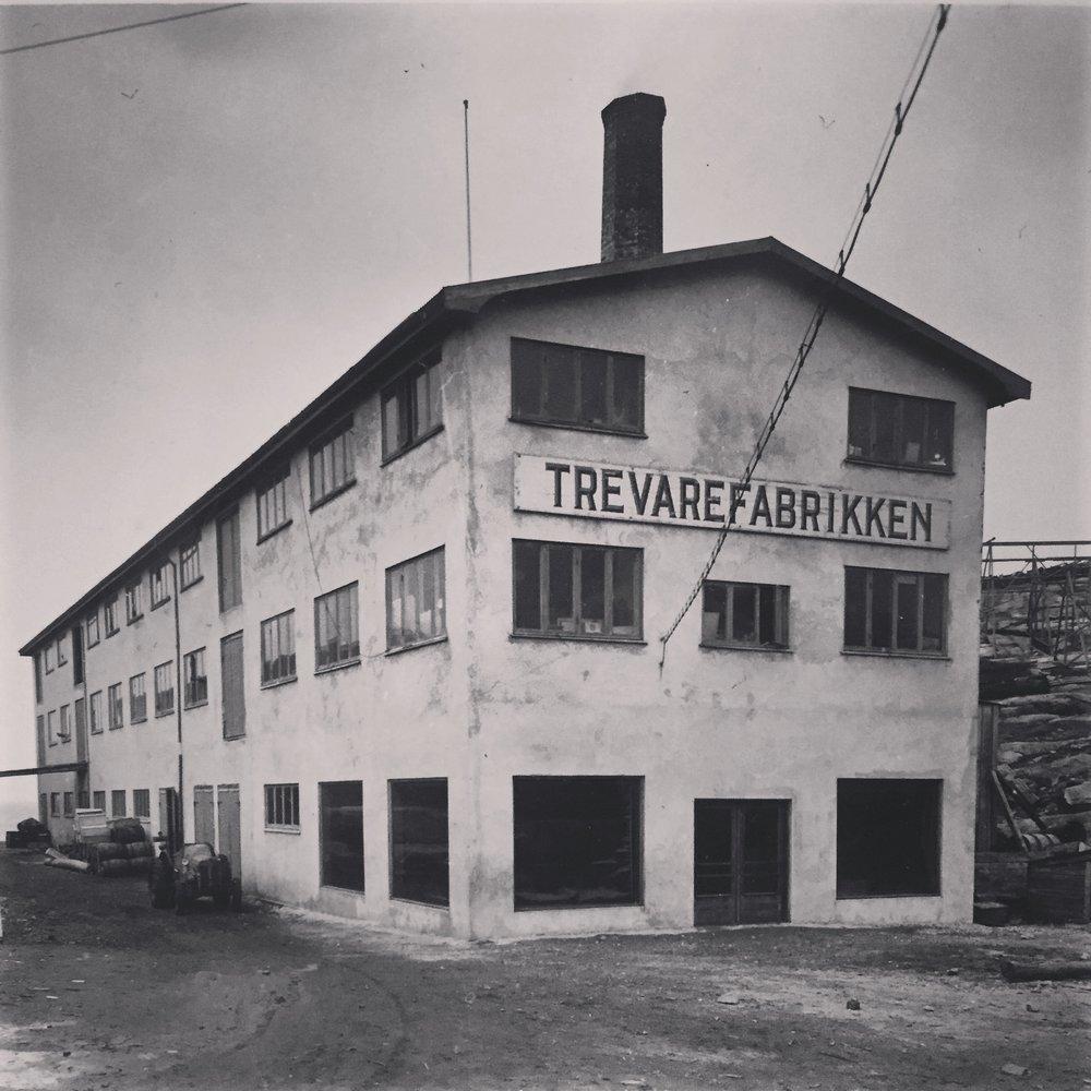 Trevarefabrikken i gamle dager.