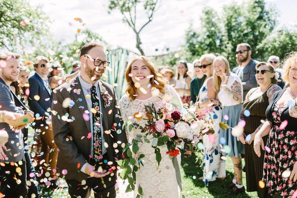 kaste konfetti bryllup