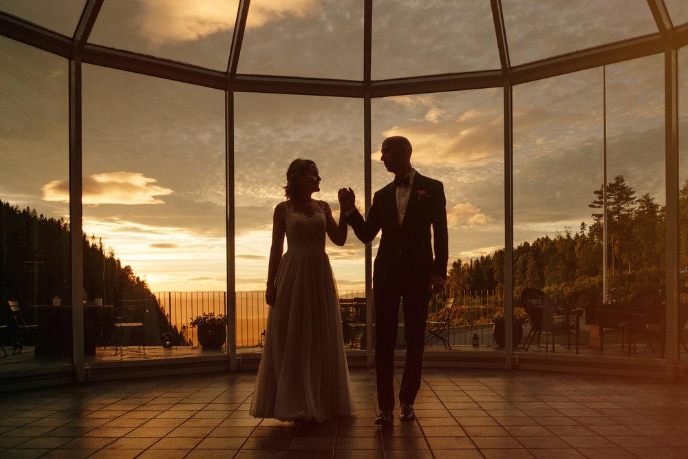 brudevals solnedgang fotograf