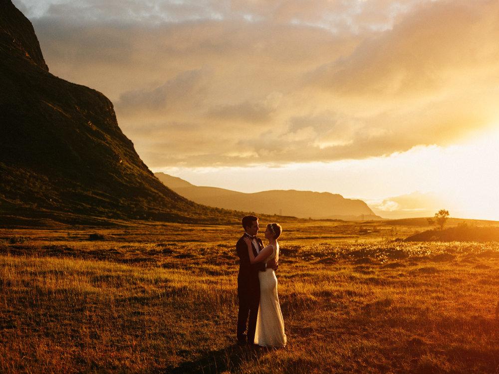 midtnattsol bryllupsfotograf lofoten