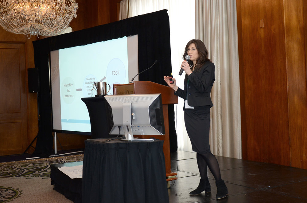 Dr. Kimberly Wintemute,Primary Care Co-Lead for Choosing Wisely Canada, presents at the Summit on Medication Safety