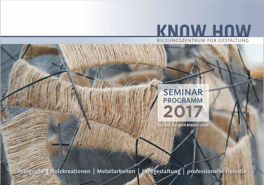 Das neue Seminarprogramm 2017 ist da