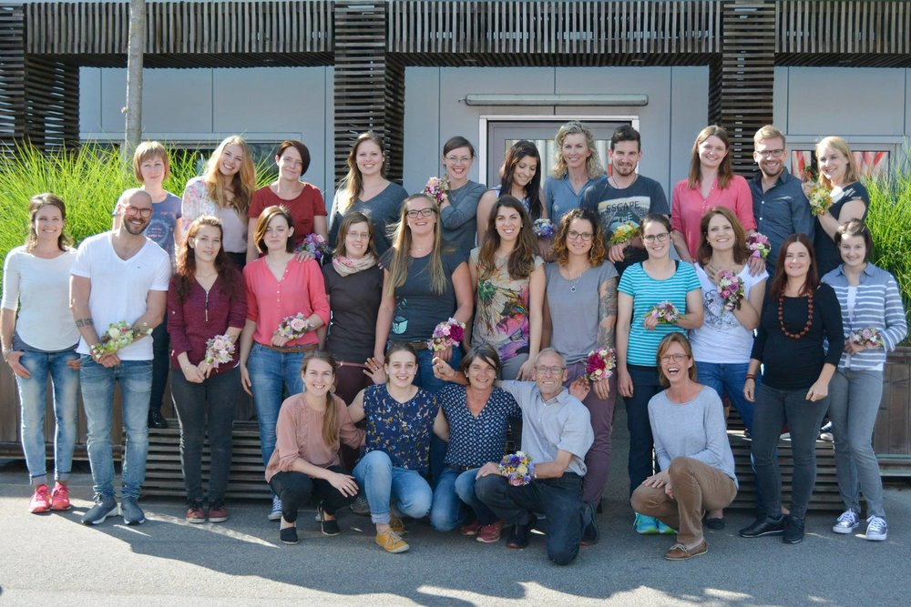 Die Klasse 2016/2017 der Academy of Flowerdesign / AoF
