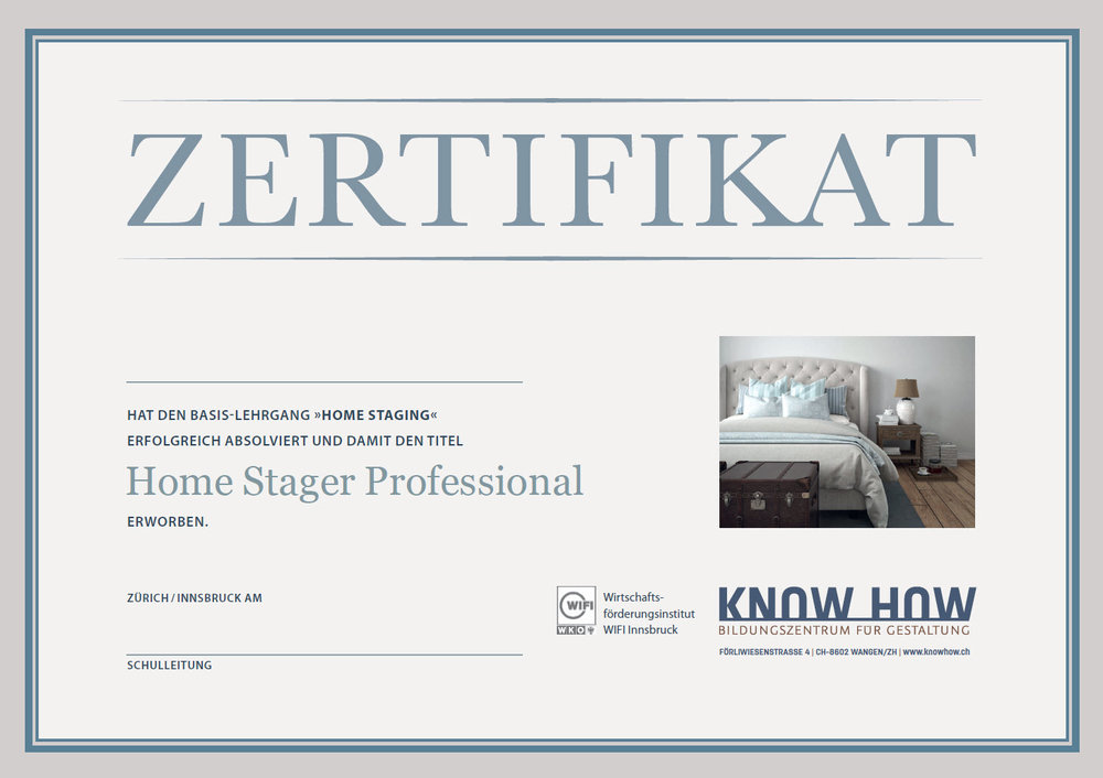 Ausbildung Home Staging home stager knowhow ch seminare für gestaltung home staging