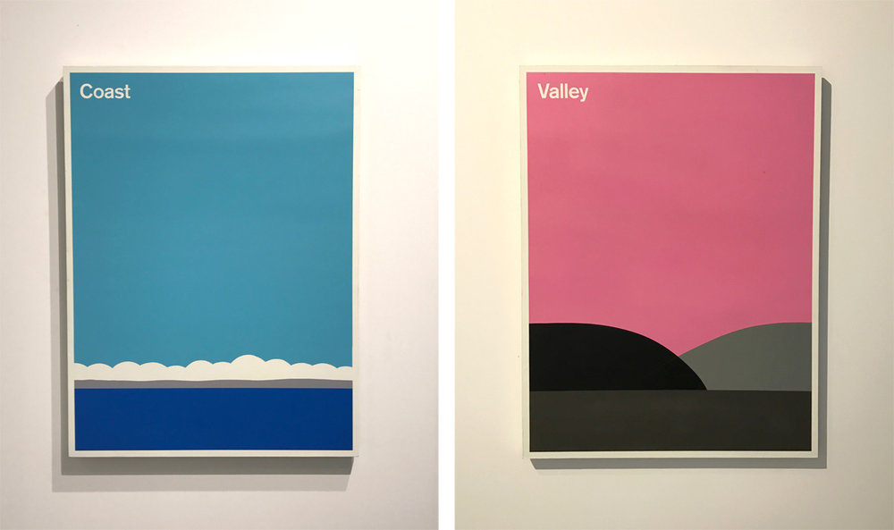 Loved this diptych, but i didn't catch the artist's name.