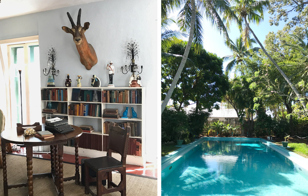 Hemingway's writing studio and infamous swimming pool.