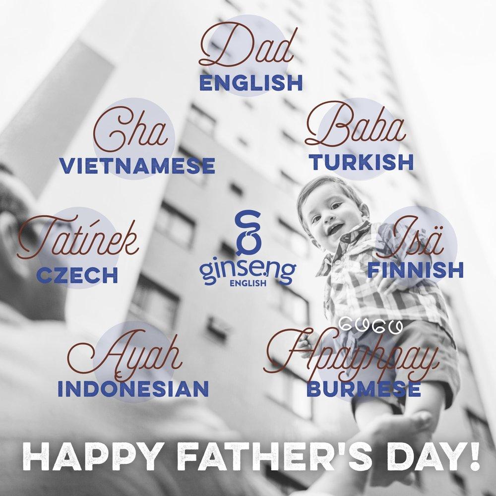 Dad in Different Languages