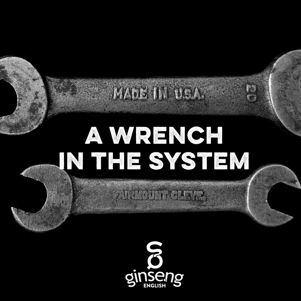 English Idiom - A Wrench in the System